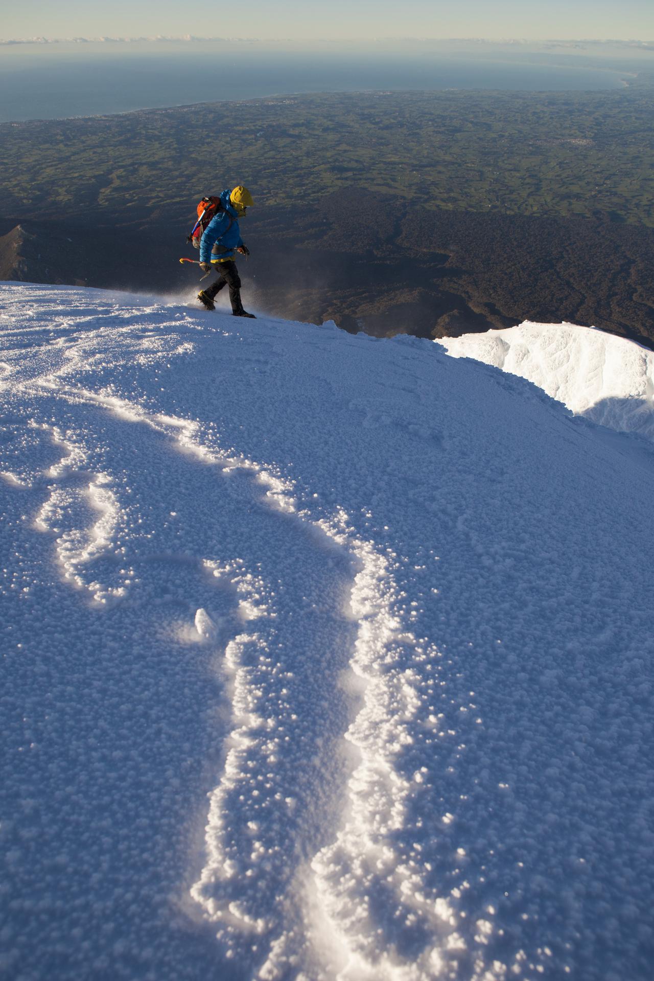 On the summit of Mount Taranaki. Photo: Mark Watson